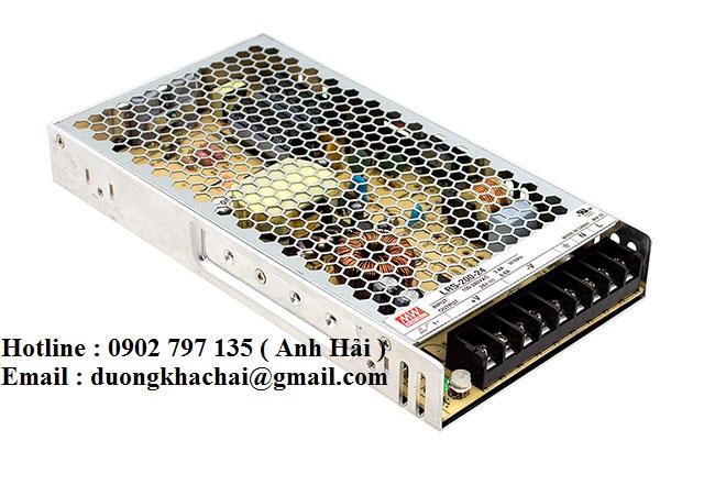 LRS-200-3.3|Bộ nguồn Meanwell LRS-200-3.3, bộ nguồn Meanwell 200W 3.3V 40A