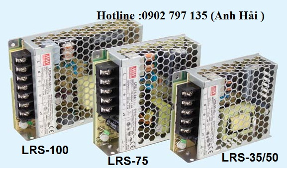 LRS-100-24|Bộ nguồn Meanwell LRS-100-24, bộ nguồn Meanwell 100W 24V 4.5A