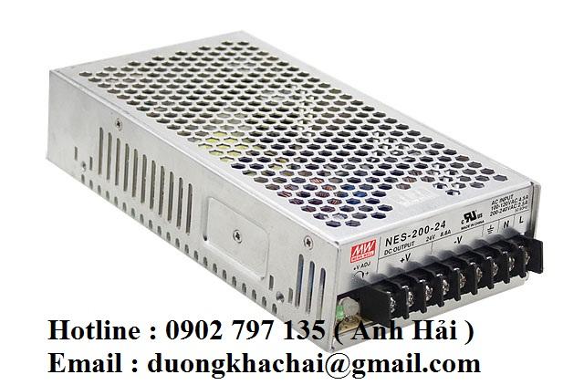NES-200-24|Bộ nguồn Meanwell NES-200-24, bộ nguồn Meanwell 200W 24V 8.8A