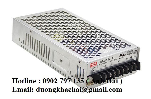 SE-200-3.3|Bộ nguồn Meanwell SE-200-3.3, bộ nguồn Meanwell 200W 3.3V 40A