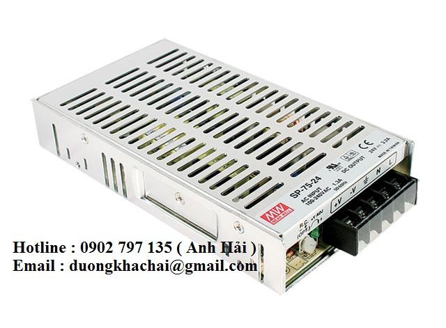 SP-75-13.5|Bộ nguồn Meanwell SP-75-13.5, bộ nguồn Meanwell 75W 13.5V 5.6A