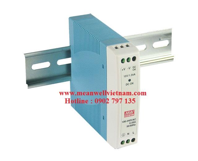 MDR-10-15|Nguồn Meanwell MDR-10-15, nguồn meanwell 10W 15V 0.67A