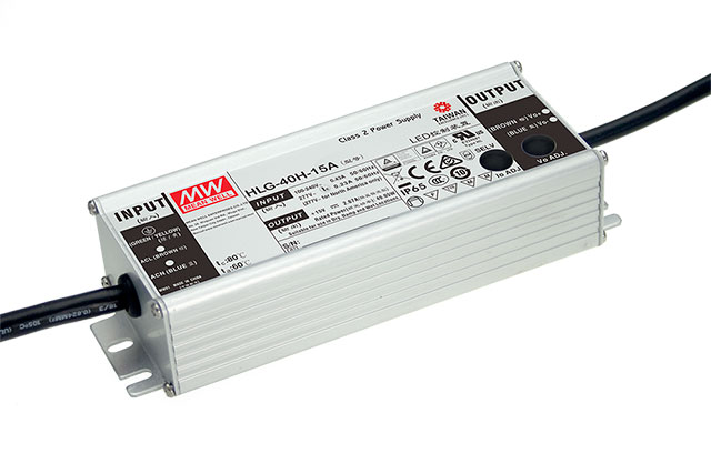 HLG-40H-12 | Meanwell HLG-40H-12, bộ nguồn Meanwell 40W 12VDC 3.33A IP67